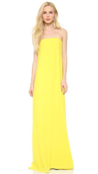 Cedric Charlier Crepe Strapless Dress
