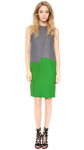 Cedric Charlier Pique Sleeveless Dress