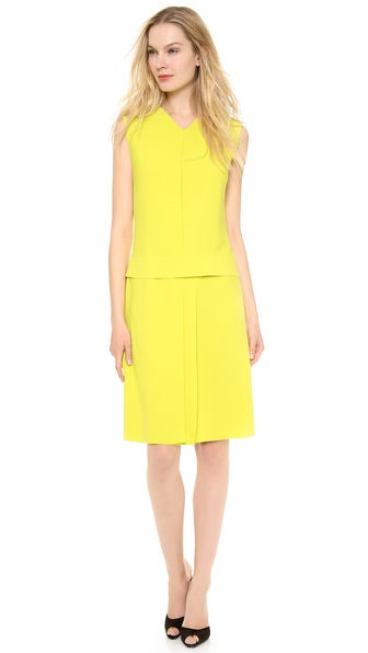 Cedric Charlier Pique Colorblock Dress