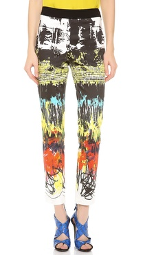 Cedric Charlier Printed Cotton Pants