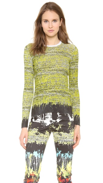 Cedric Charlier Printed Knit Pullover