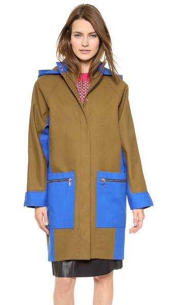 Cedric Charlier Cotton Utility Coat