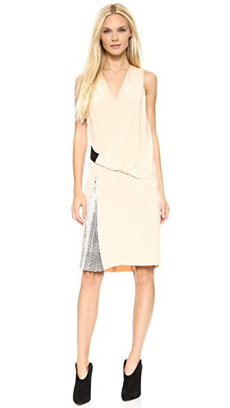 Cedric Charlier Cedric Charlier Sleeveless Dress (Beige\/Sand\/Tan)