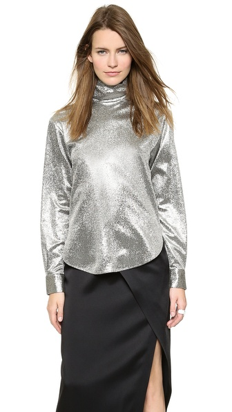 Cedric Charlier Long Sleeve Blouse