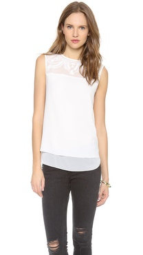 Cooper & Ella Embroidered Lauren Top