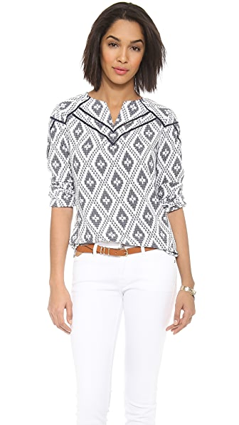 Cooper & Ella Alyson Ladder Stitch Blouse