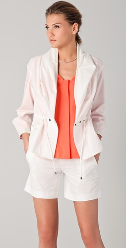 Chalayan Grey Line Scarf Jacket