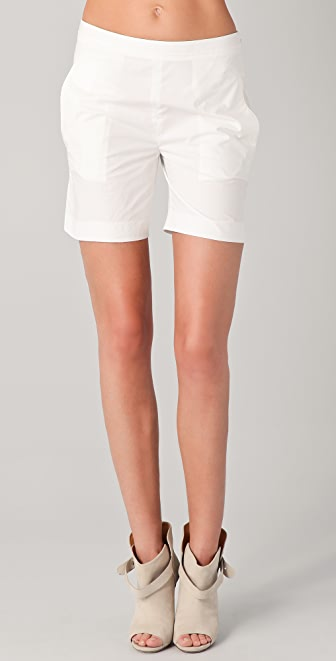 Chalayan Grey Line Profile Shorts