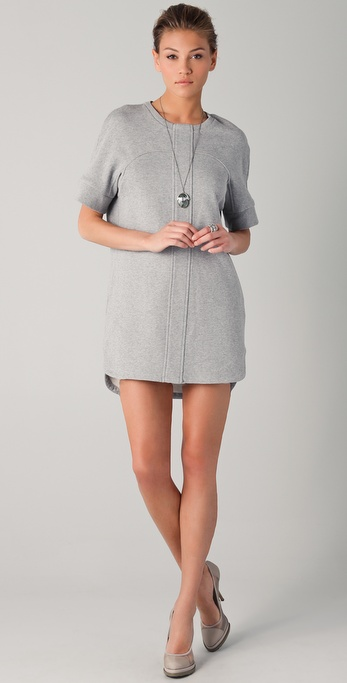 Chalayan Grey Line Sweatshirt Dress
