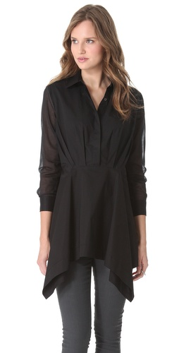 Chalayan Grey Line Handkerchief Shirt Tunic