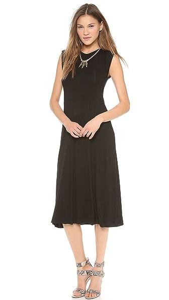 Chalk Whip Midi Dress