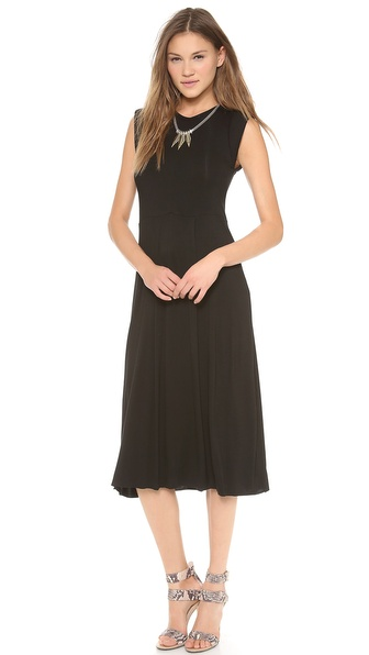 Chalk Whip Midi Dress