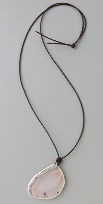 Chan Luu Grey Agate Necklace