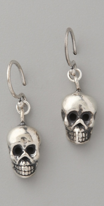Chan Luu Skull Drop Earrings