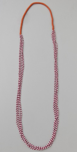 Chan Luu Cotton Seed Bead Necklace