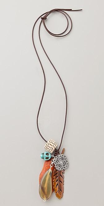 Chan Luu Antique Bone Charm Necklace
