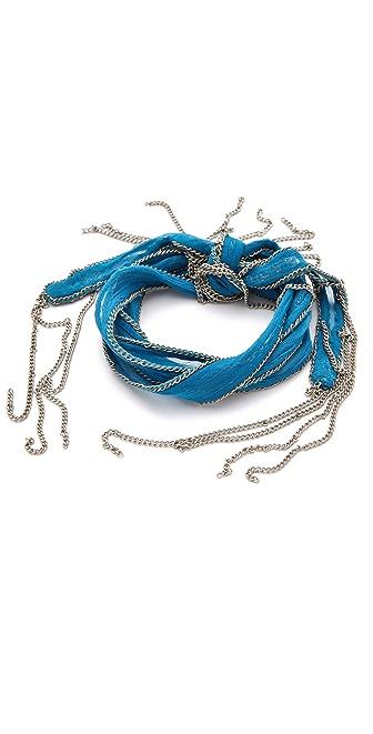 Chan Luu Silk & Chain Wrap Bracelet