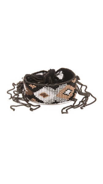 Chan Luu Beaded Chiffon Bracelet