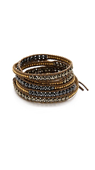 Chan Luu Pyrite Wrap Bracelet