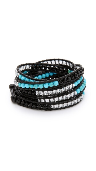 Chan Luu Mixed Agate Wrap Bracelet