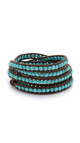 Chan Luu Semi Precious Stone Wrap Bracelet