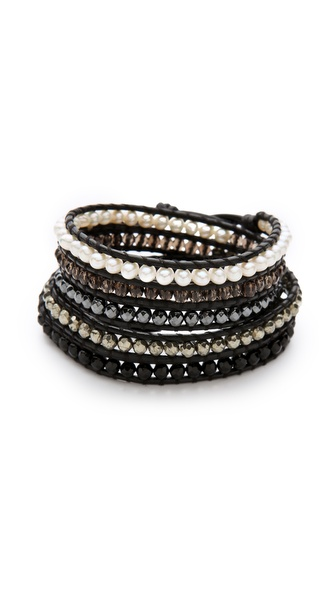 Chan Luu Gold Pearl Wrap Bracelet