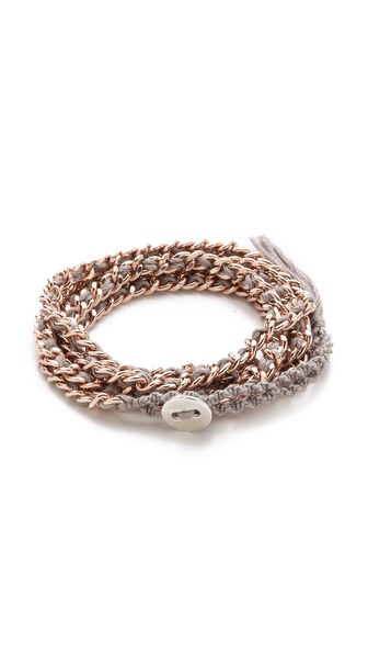 Chan Luu Silk & Chain Wrap Bracelet