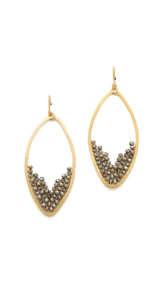 Chan Luu Pyrite Drop Earrings