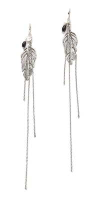 Chan Luu Onyx & Chain Earrings