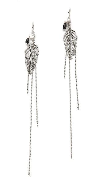 Chan Luu Onyx & Chain Earrings