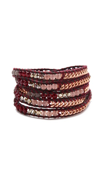 Chan Luu Bead & Chain Wrap Bracelet