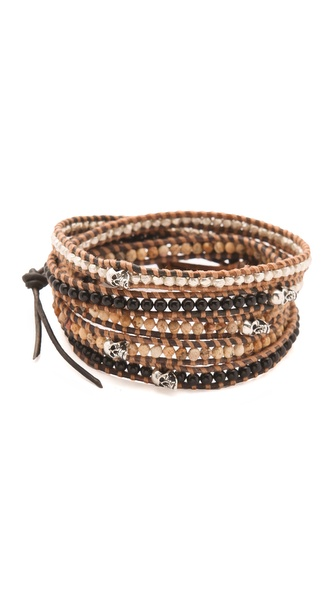 Chan Luu Skull Wrap Bracelet