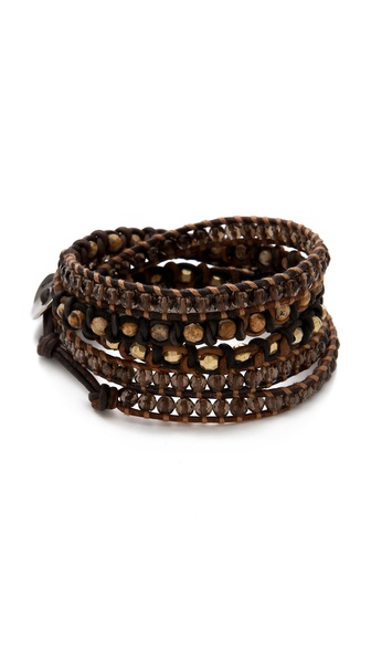 Chan Luu Mixed Stone Wrap Bracelet