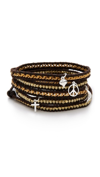 Chan Luu Gold Charm Wrap Bracelet