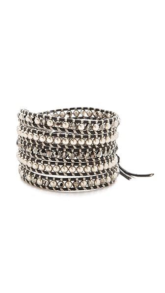 Chan Luu Imitation Pearl Wrap Bracelet