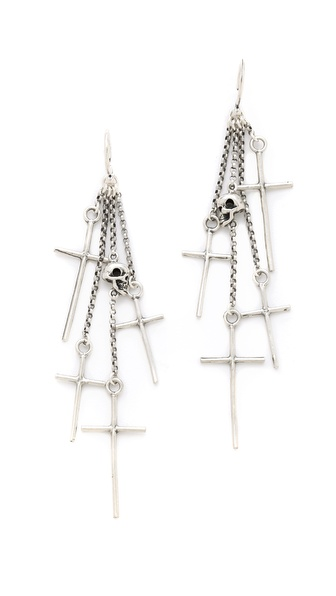 Chan Luu Cross Charm Earrings