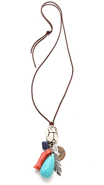 Chan Luu Multi Charm Necklace