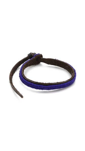Chan Luu EFI Beaded Leather Cuff