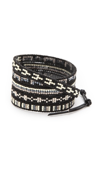 Chan Luu Dark Beaded Wrap Bracelet