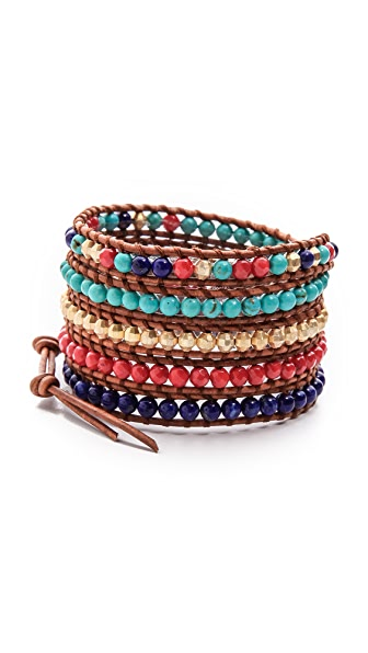 Chan Luu Multicolor Beaded Wrap Bracelet