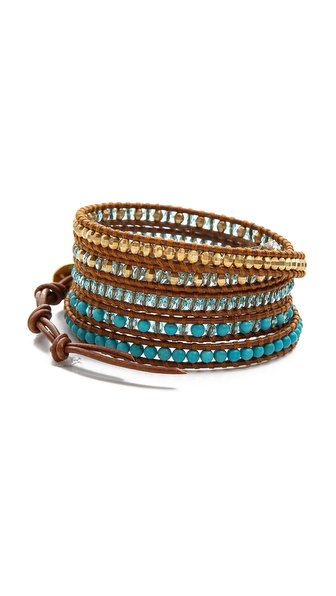 Chan Luu Beaded Ombre Wrap Bracelet