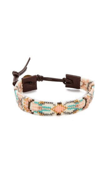 Chan Luu Tribal Beaded Wrap Bracelet