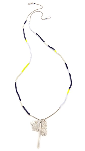 Chan Luu Beaded Charm Necklace