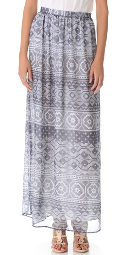 Charles Henry Patchwork Maxi Skirt