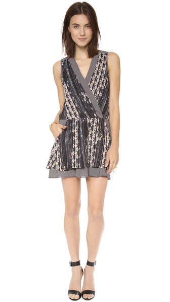Charles Henry Mock Wrap Dress