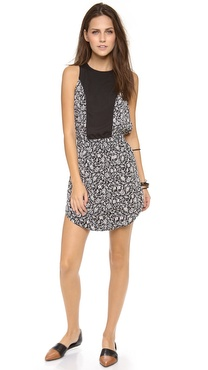 Charles Henry Zip Back Dress