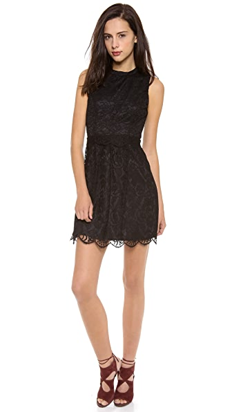 Charles Henry Lace Princess Seam Dress