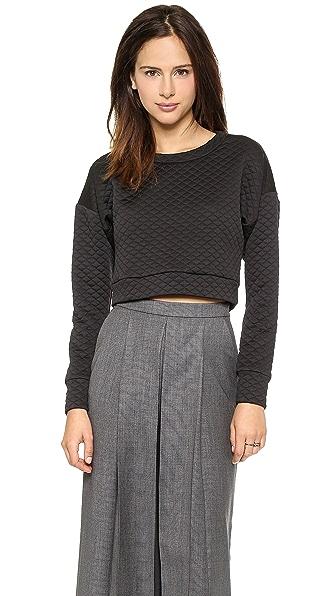 Укороченный стеганый пуловер Charles Henry