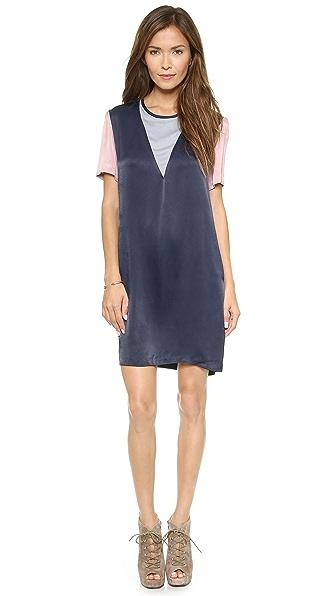 Свободное платье с цветными блоками Charles Henry