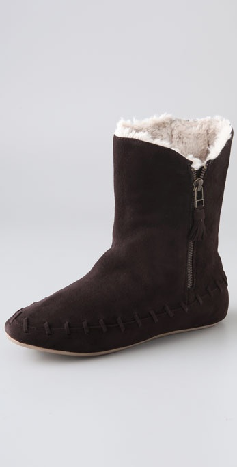 Charlotte Ronson Lorelei Moccasin Suede Booties